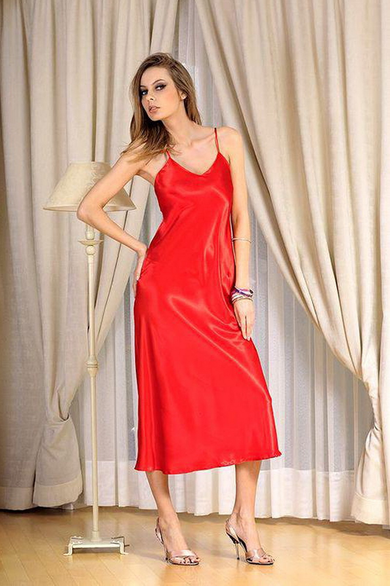 Dámská košilka DKaren Iga červená (velikost XL)