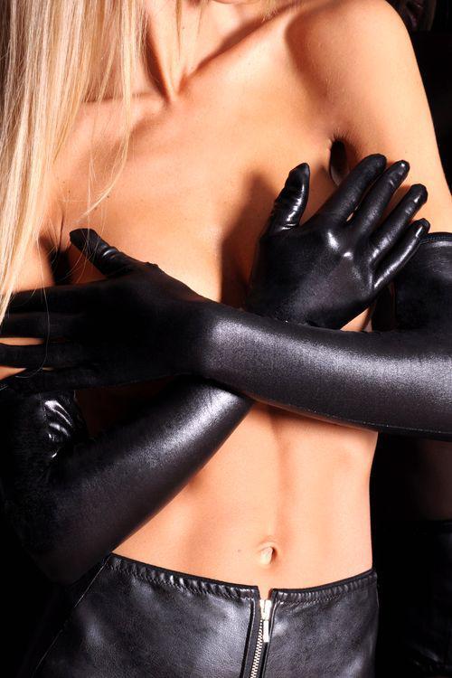 Erotické rukavice 7-Heaven A0214 černé (velikost S/M)