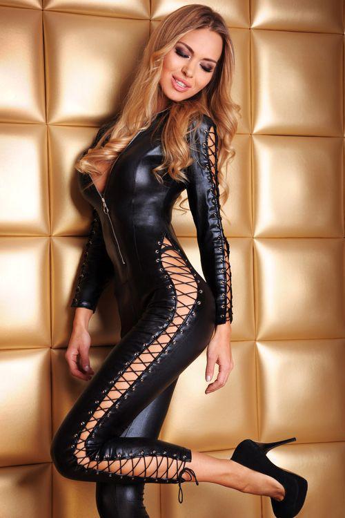 Erotický kostým 7-Heaven Sheila černý (velikost S/M)