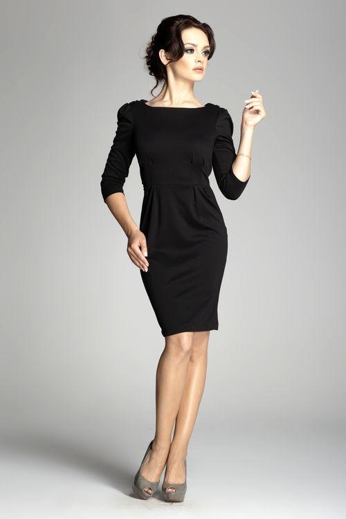 Dámské šaty Figl M082 černé (velikost S)