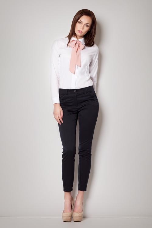 Dámská košile Figl M180 bílo-růžová (velikost L)