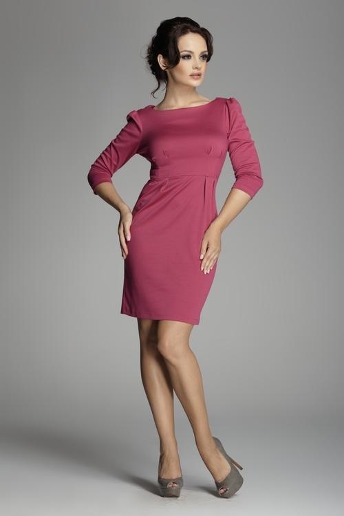 Dámské šaty Figl M082 fuchsiové (velikost S)