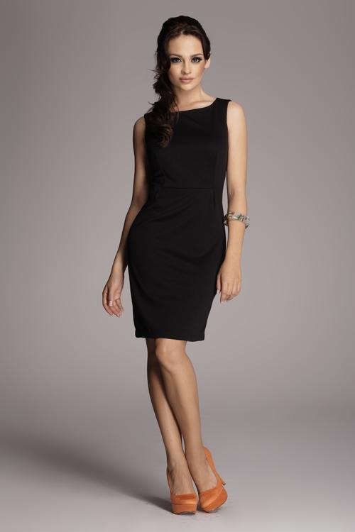 Dámské šaty Figl M079 černé (velikost S)
