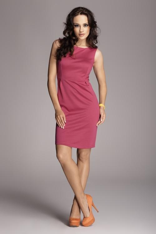 Dámské šaty Figl M079 fuchsiové (velikost S)