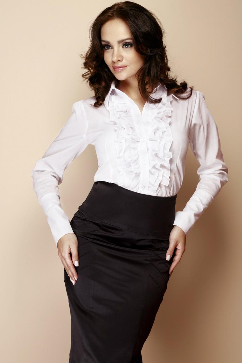 Dámská košile Figl M012 bílá (velikost XXXL)