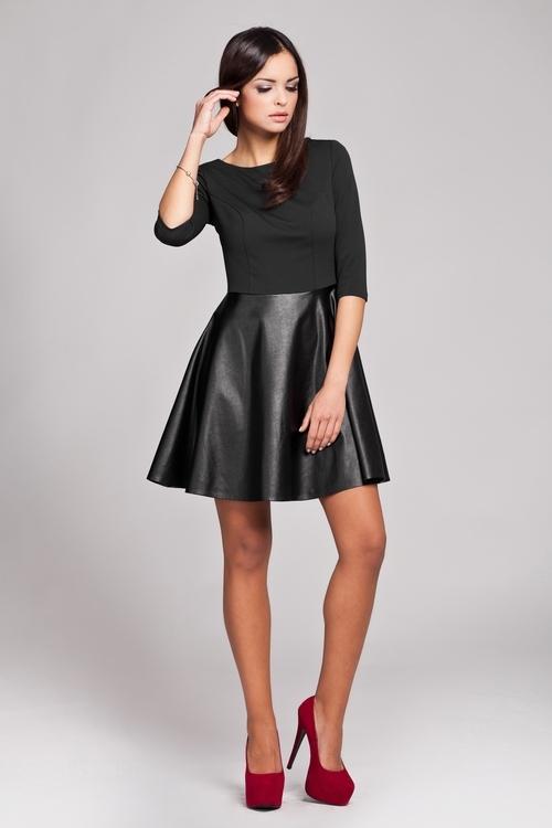 Dámské šaty Figl M162 černé (velikost S)