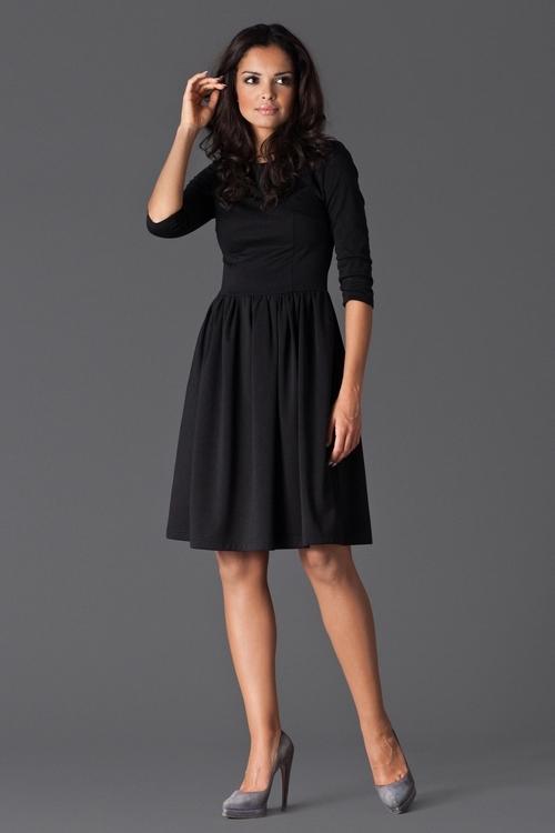Dámské šaty Figl M117 černé (velikost S)