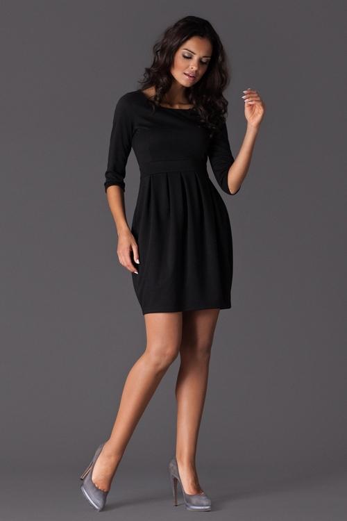 Dámské šaty Figl M122 černé (velikost S)