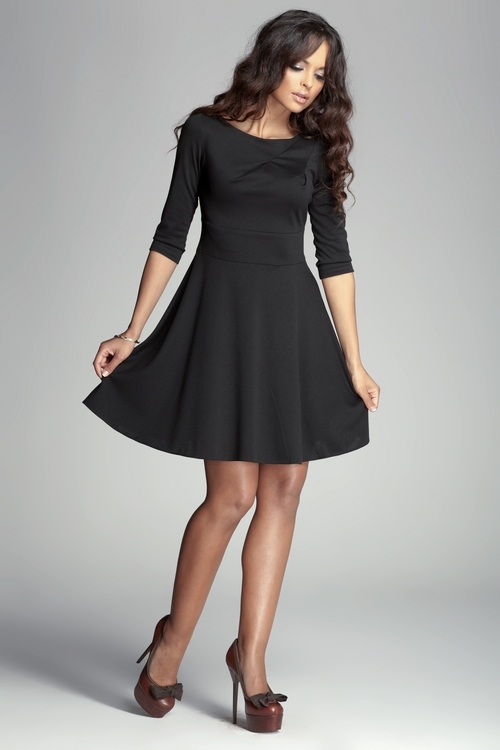 Dámské šaty Figl M081 černé (velikost S)