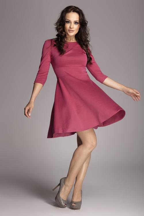 Dámské šaty Figl M081 fuchsiové (velikost S)