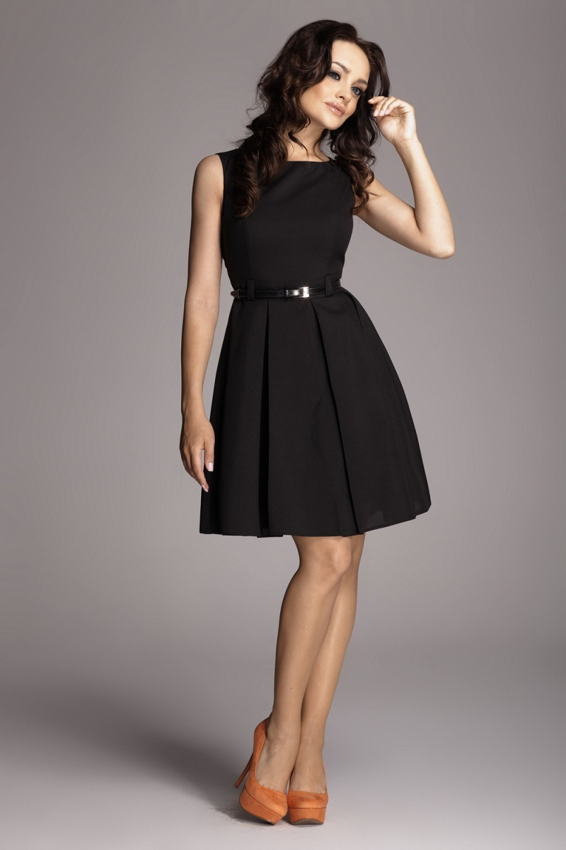 Dámské šaty Figl M083 černé (velikost S)