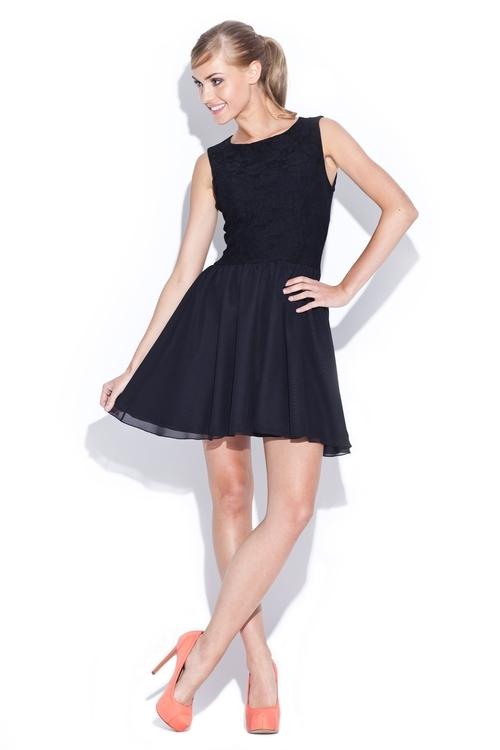 Dámské šaty Figl M112 černé (velikost S)