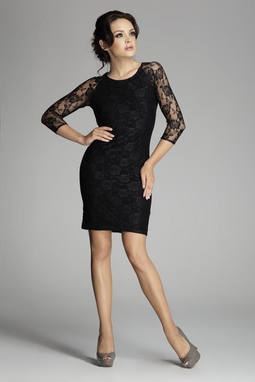 Dámské šaty Figl M076 černé (velikost S)