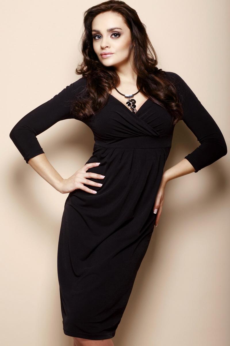 Dámské šaty Figl M018 černé (velikost S)