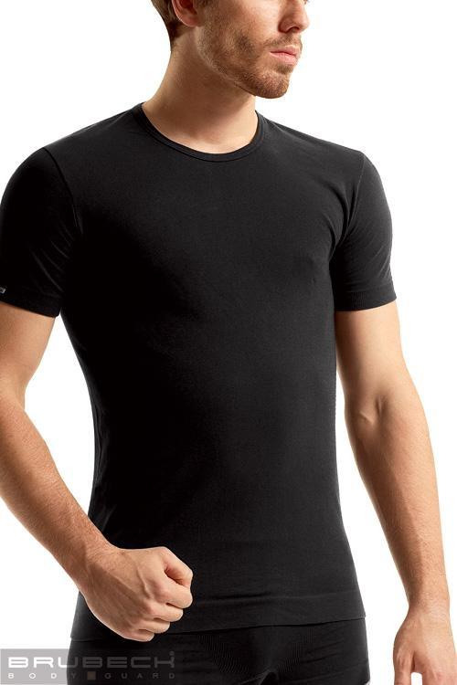 Bezešvé tričko Brubeck SS00990 černé (velikost S)