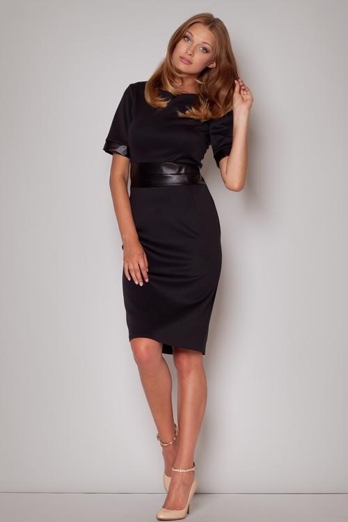 Dámské šaty Figl M204 černé (velikost S)