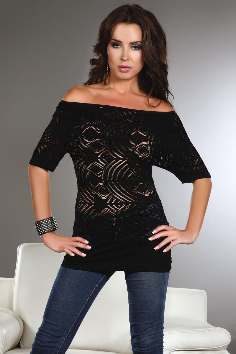 Dámské tričko LivCo Corsetti Orsola černé (velikost S/M)