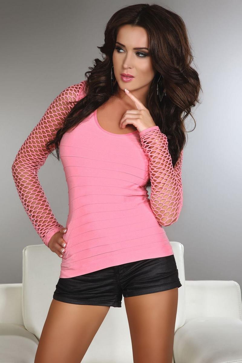 Dámské tričko LivCo Corsetti Hortense růžové (velikost L/XL)
