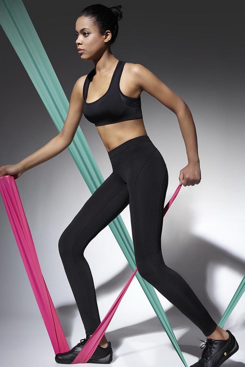 Fitness legíny BasBleu Activella černé (velikost L)