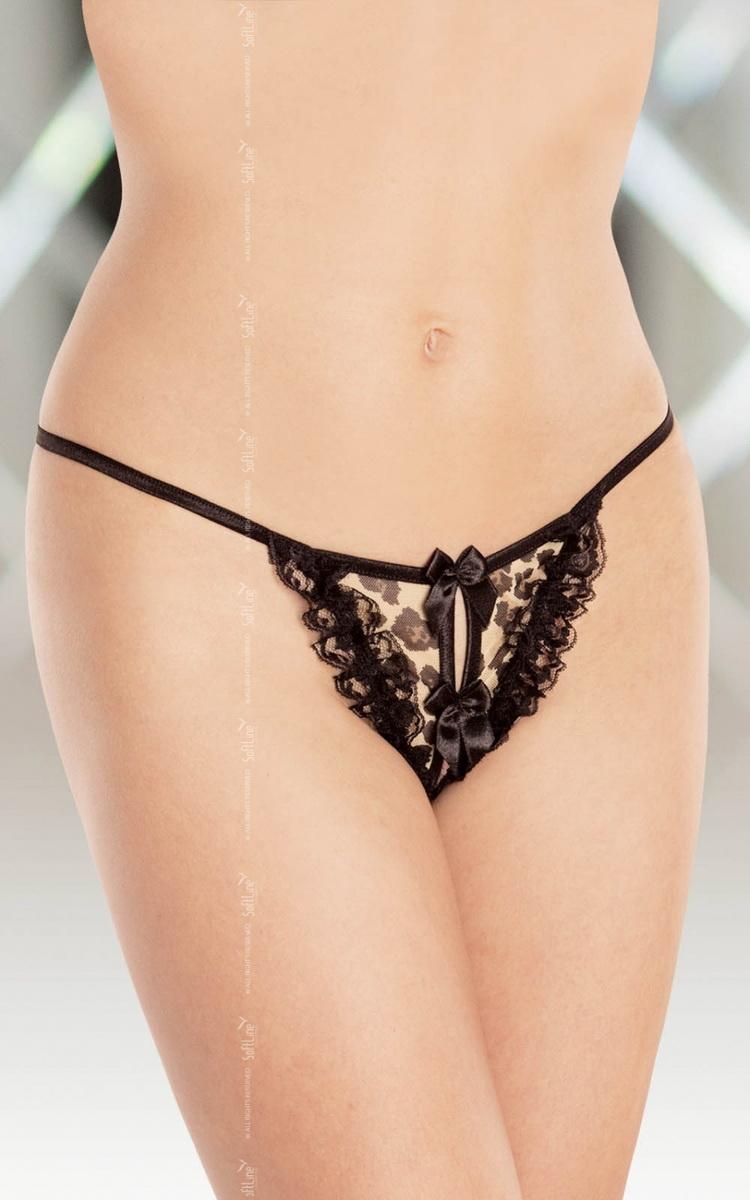 Erotické tanga Softline 2358 černé (velikost S/L)