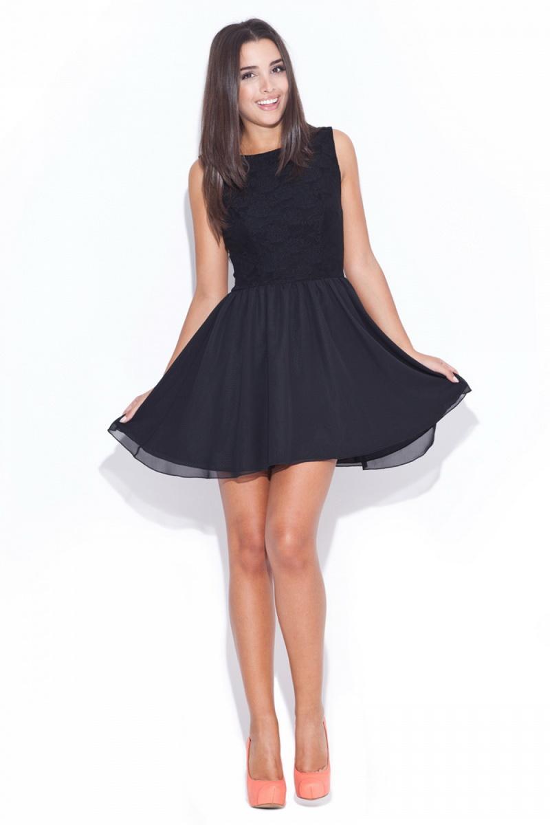 Dámské šaty Katrus K007 černé (velikost S)