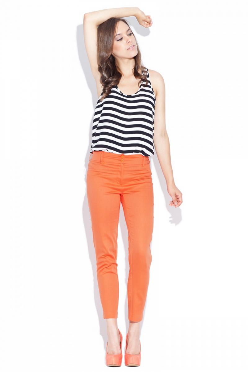 Dámské kalhoty Katrus K021 oranžové (velikost S)