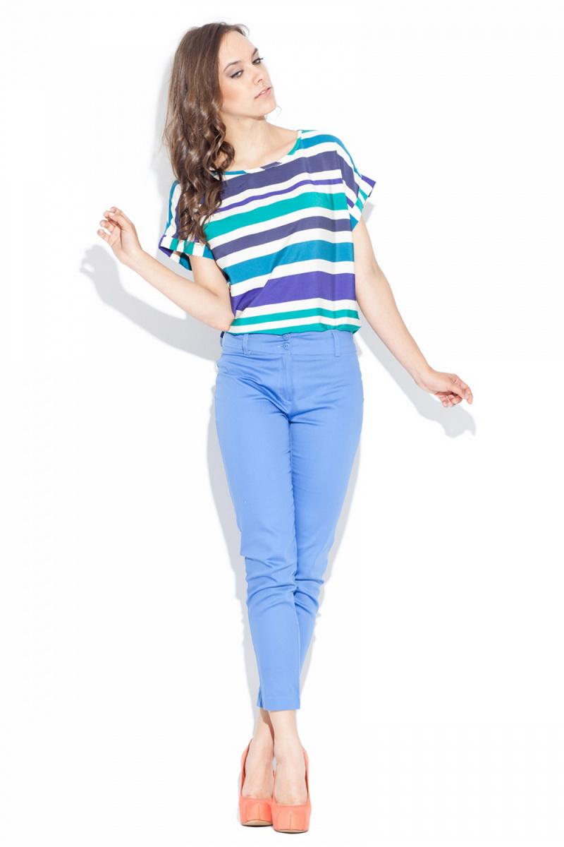 Dámské kalhoty Katrus K021 světle modré (velikost S)
