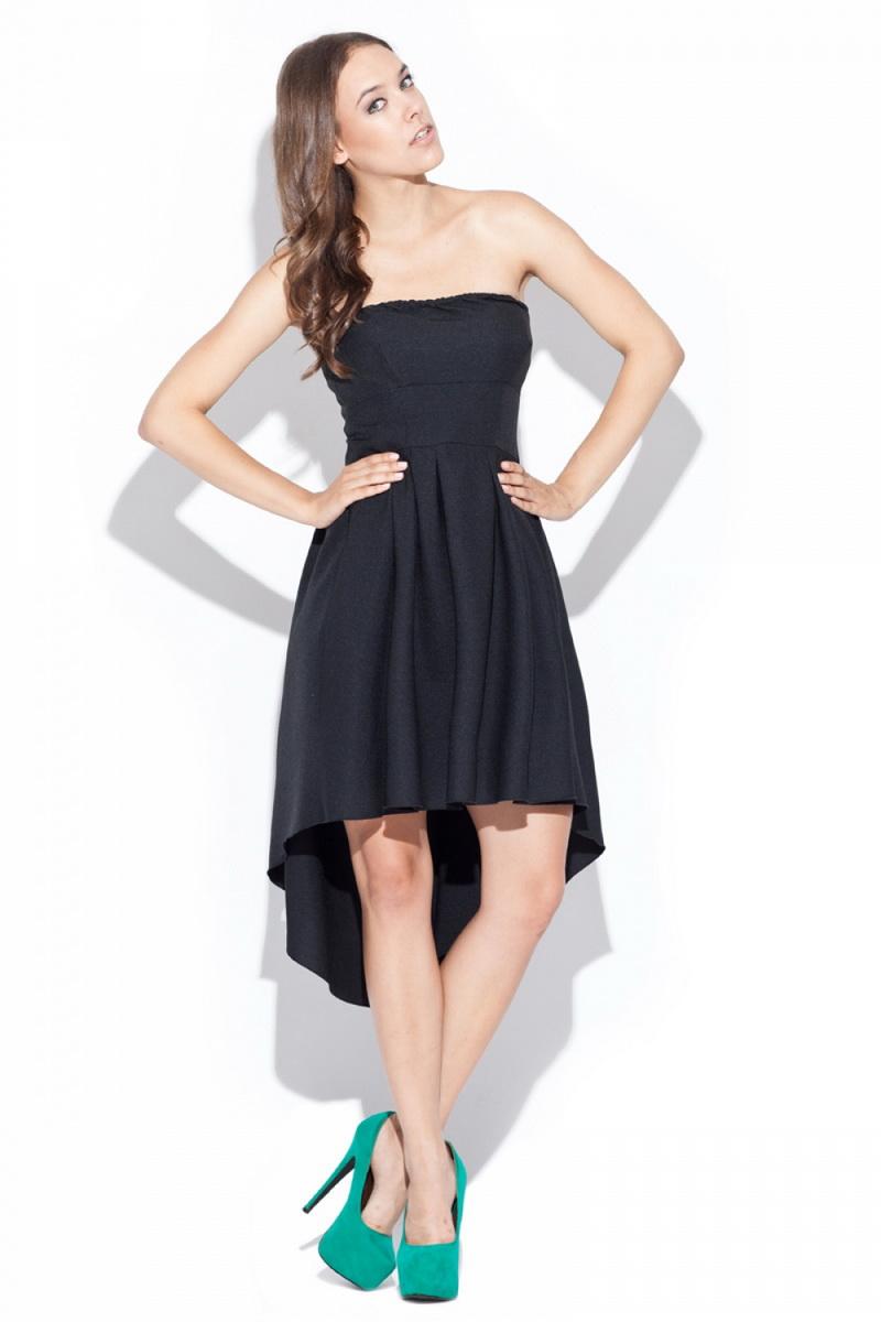 Dámské šaty Katrus K031 černé (velikost S)