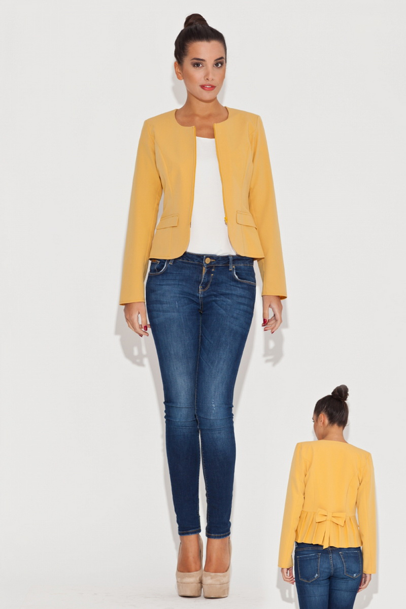 Dámské sako Katrus K054 žluté (velikost M)