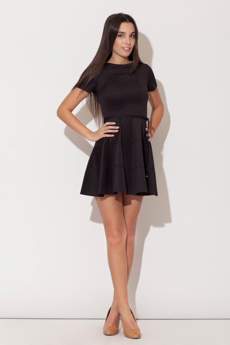 Dámské šaty Katrus K090 černé (velikost S)