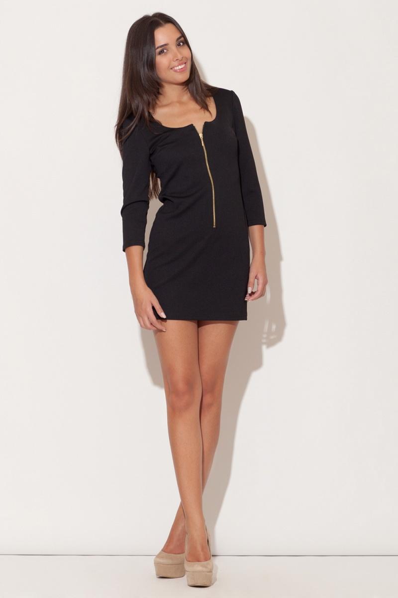 Dámské šaty Katrus K104 černé (velikost S)