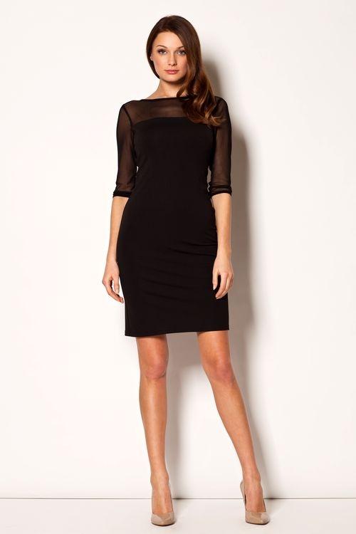 Dámské šaty Figl M237 černé (velikost S)