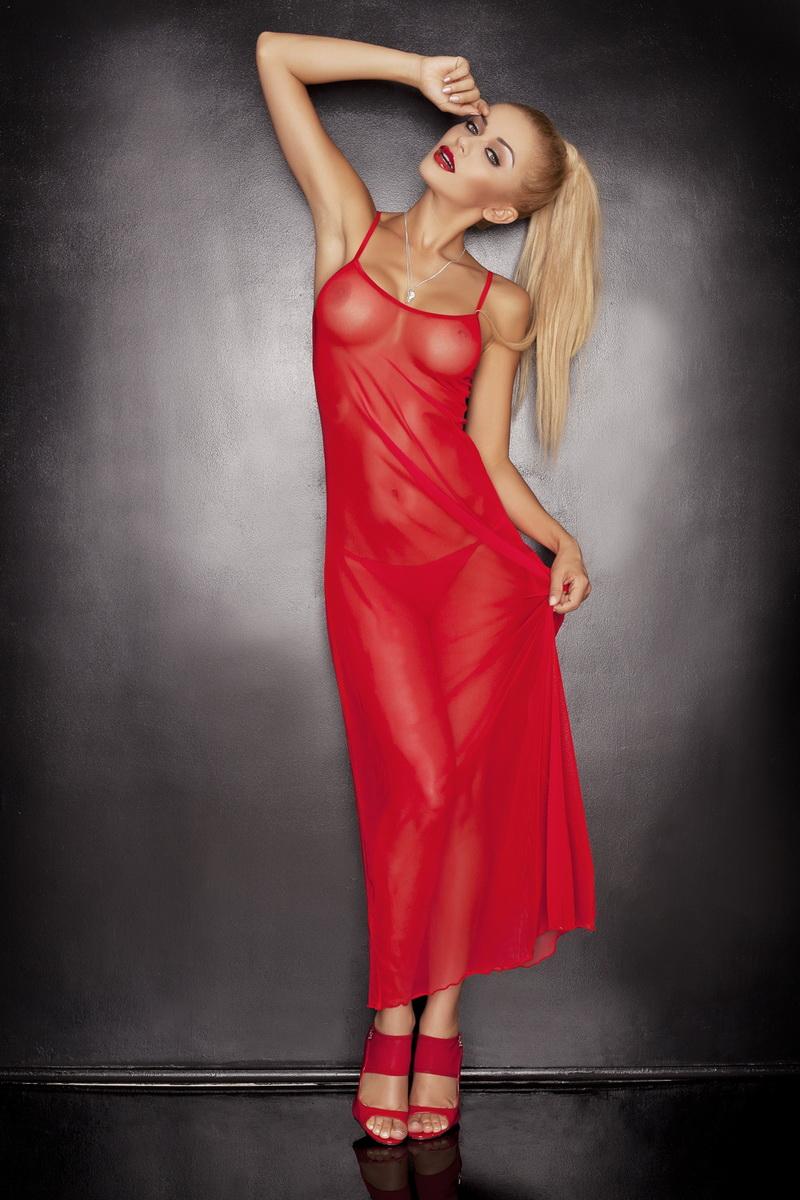 Erotická souprava DKaren Estella červená (velikost L)