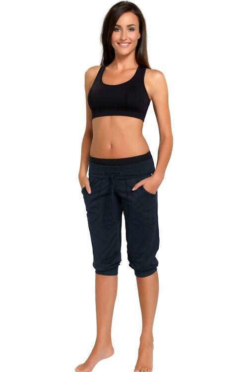 Fitness capri kalhoty gWinner Roma šedé (velikost S)