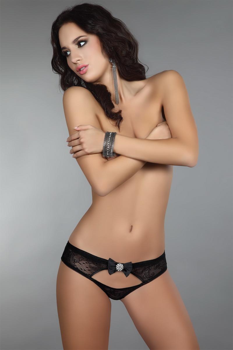 Dámské kalhotky LivCo Corsetti Behira černé (velikost M)