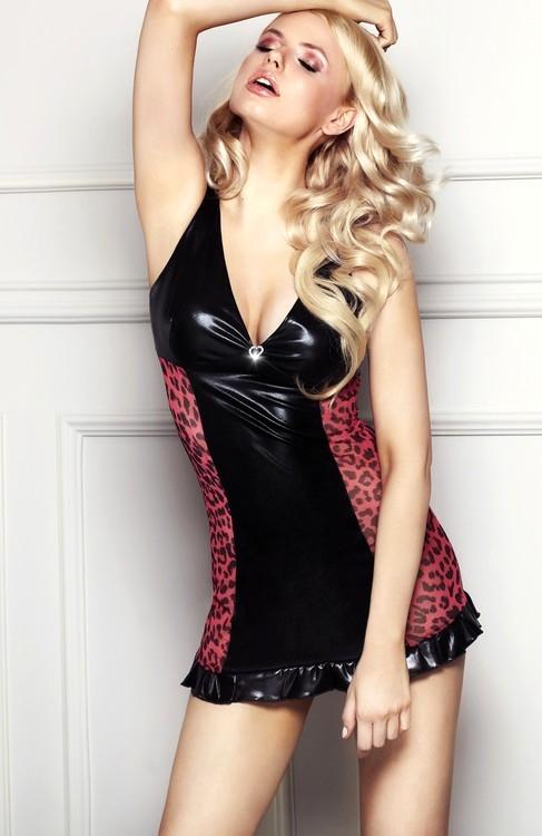 Dámské šaty 7-Heaven Lola černo-červené (velikost XL)