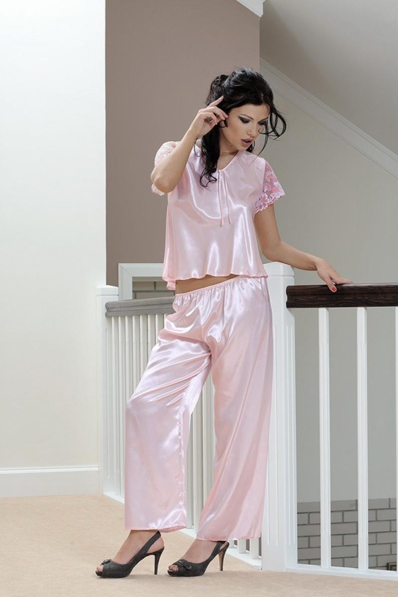 Dámské pyžamo DKaren Ewa růžové (velikost L)