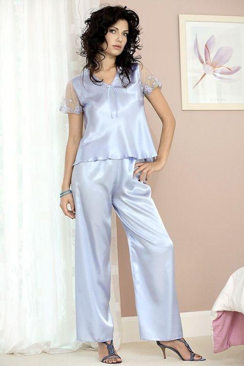 Dámské pyžamo DKaren Ewa světle modré (velikost M)