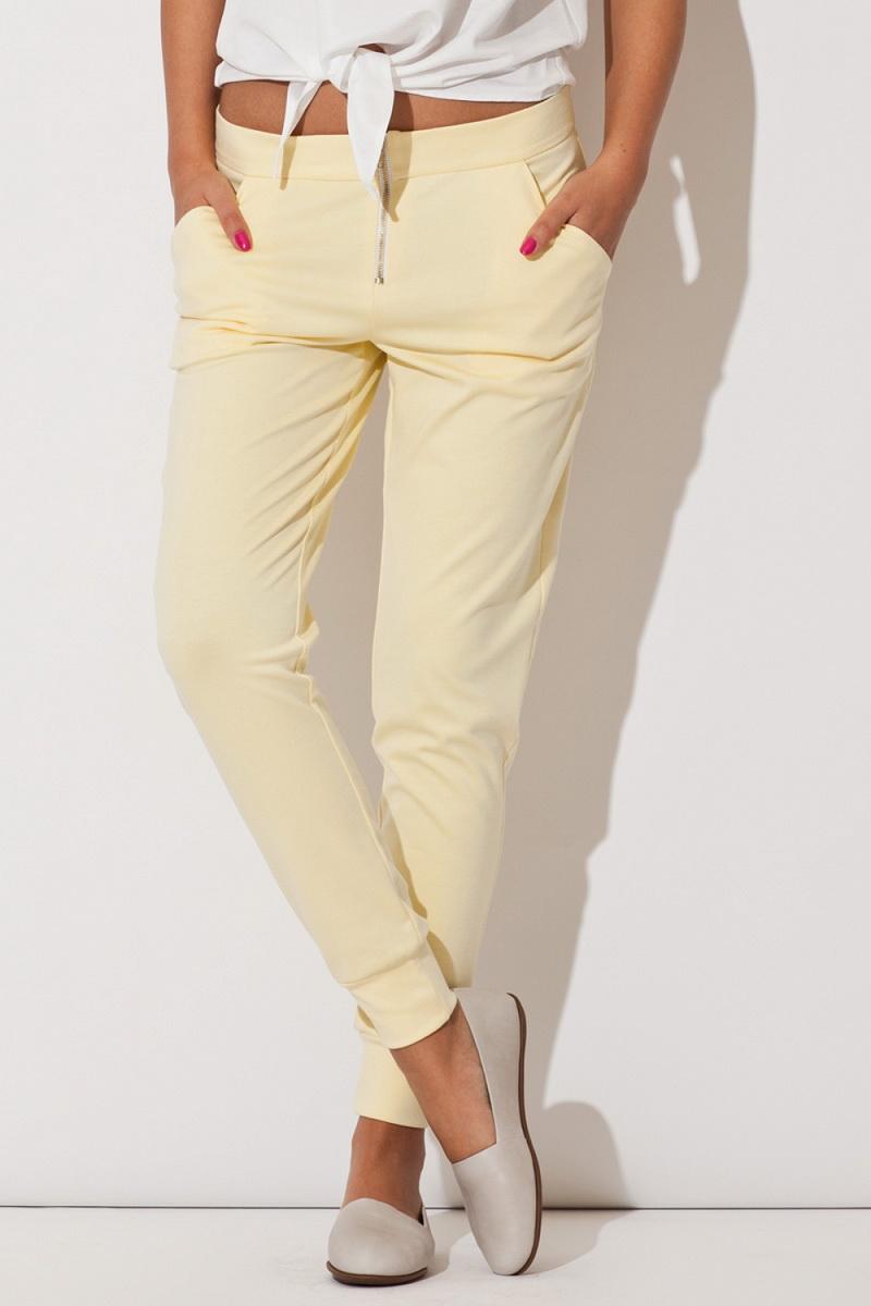 Dámské kalhoty Katrus K153 žluté (velikost XS)