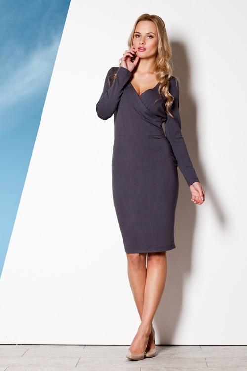 Dámské šaty Figl M264 šedé (velikost S)