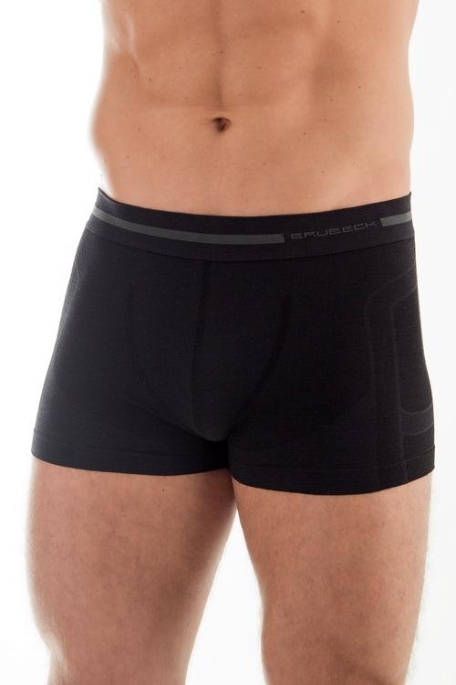 Bezešvé boxerky Brubeck BX10430 černé (velikost L)