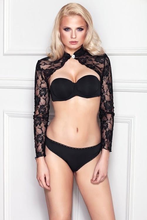 Erotické bolero 7-Heaven Luxuria černé (velikost S)