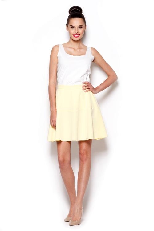 Dámská sukně Figl M285 žlutá (velikost L)