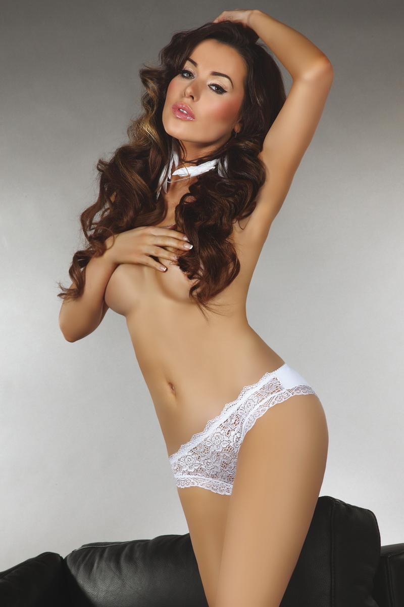 Dámské kalhotky LivCo Corsetti Sally bílé (velikost M)