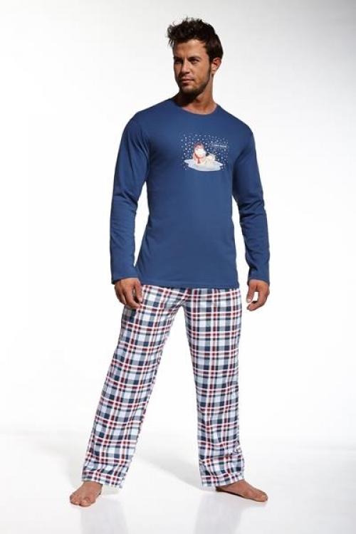 Pánské pyžamo Cornette I like snow 12420 granátové (velikost M)