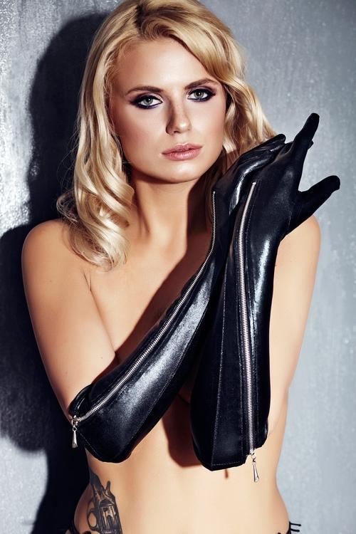 Erotické rukavice 7-Heaven A0213 černé (velikost S/M)