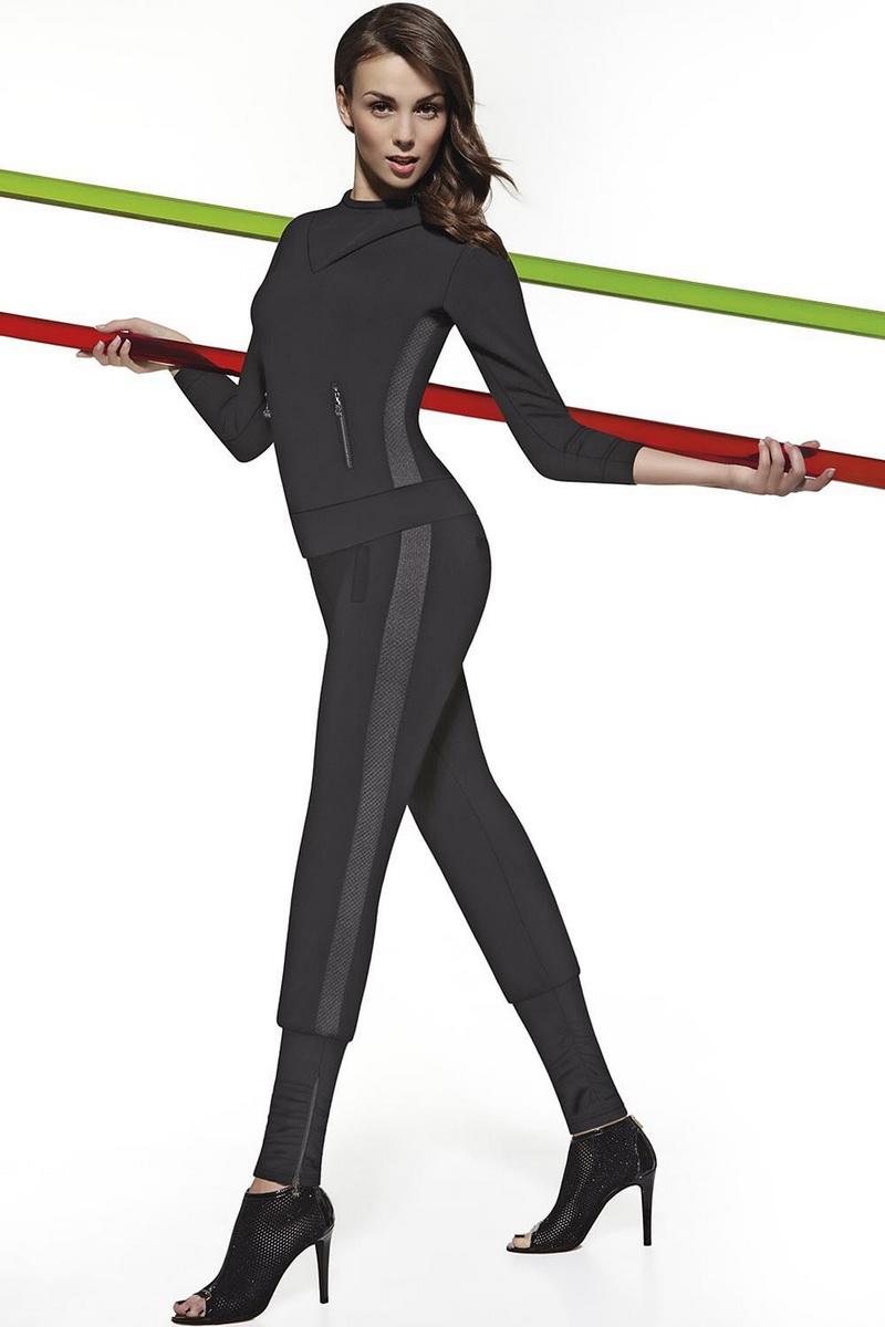 Fitness legíny BasBleu Athena černé (velikost L)