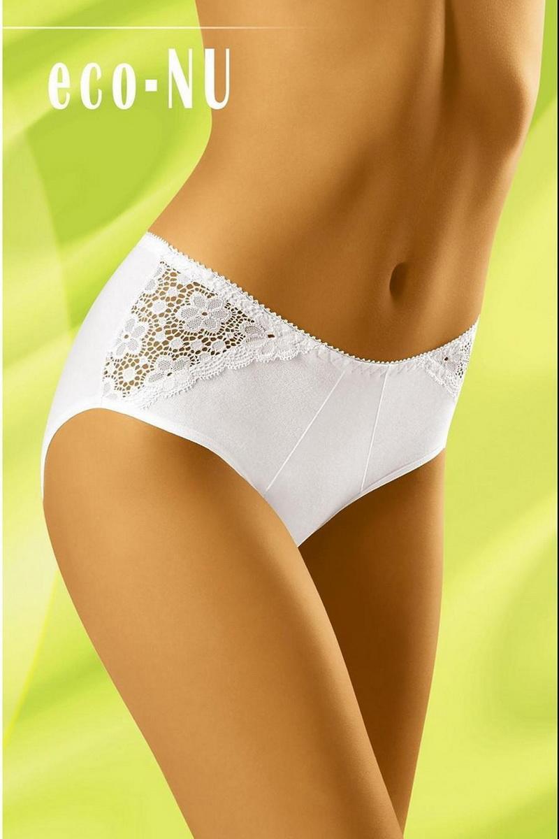 Dámské kalhotky Wolbar Eco-NU bílé (velikost XL)