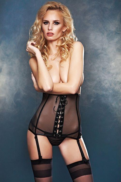 Erotická souprava 7-Heaven Bailey černá (velikost L)