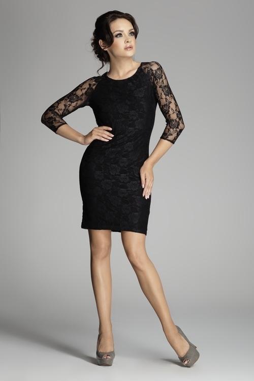 Dámské šaty Figl M076 černé (velikost L)
